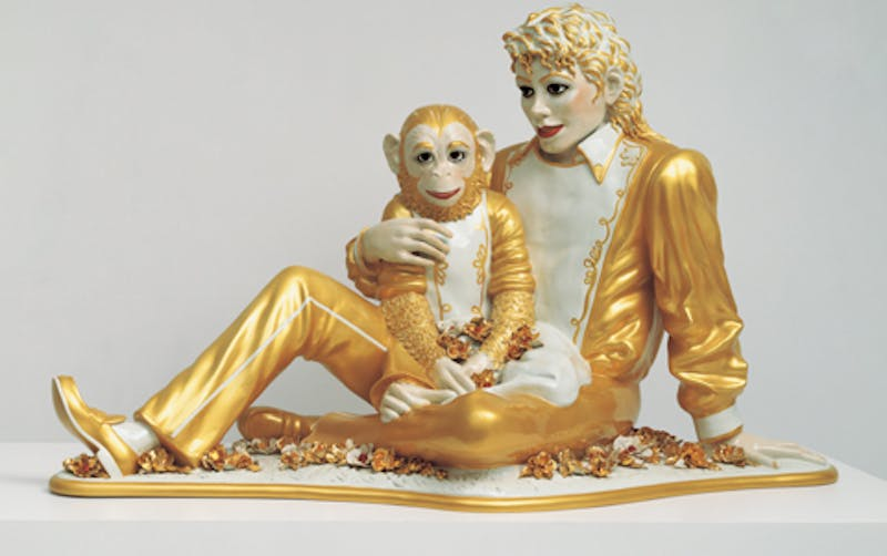 "Jeff Koons, ""Michael Jackson and Bubbles"", 1988 