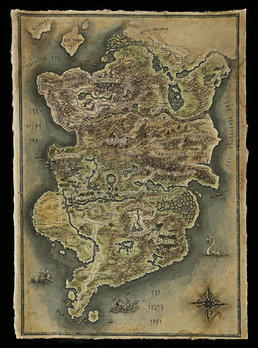 Colour Map of Azeroth. Photo: Prop Store