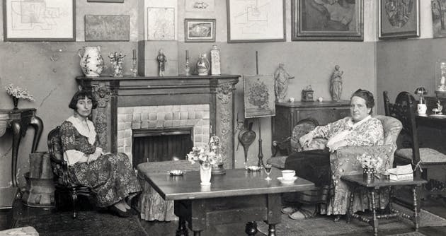 Portrait of Alice B. Toklas and Gertrude Stein in Man Ray's Paris apartment