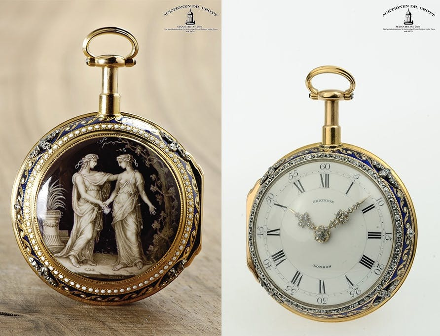 Goldemaille-Taschenuhr, Grignion/James Snelling/George Michael Moser, London, ca. 1776