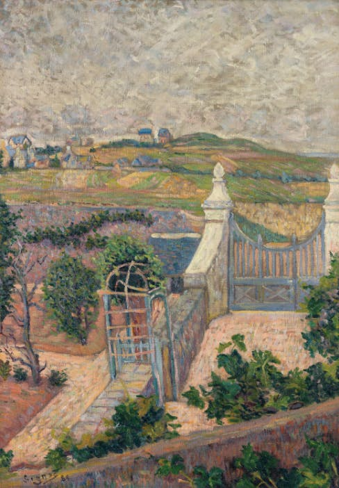 Paul Signac (1863-1935). Saint Briac de ma fenêtre, 1865. Oil on canvas; signed and dated lower left. 25 5/8 x 17 11/16 in