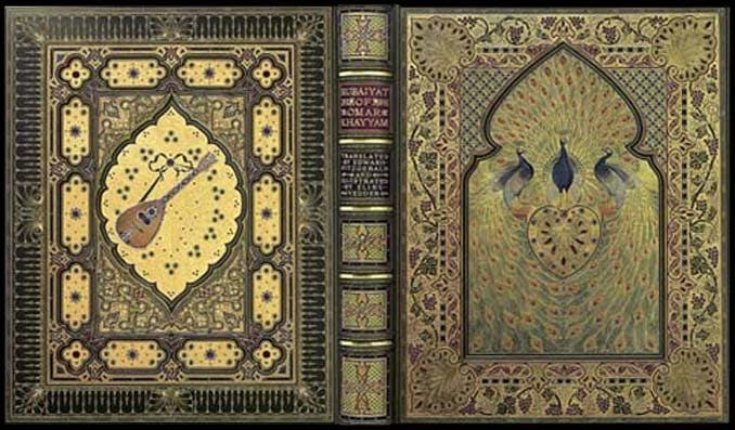 A bejeweled version of the Rabaiyat was lost in the Titanic sinking. Image: Booktryst