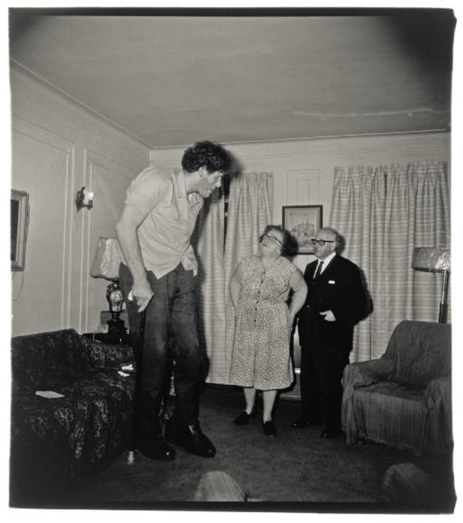 Diane Arbus, 'A Jewish Giant at Home with his Parents', 1967. Photo: Christie's