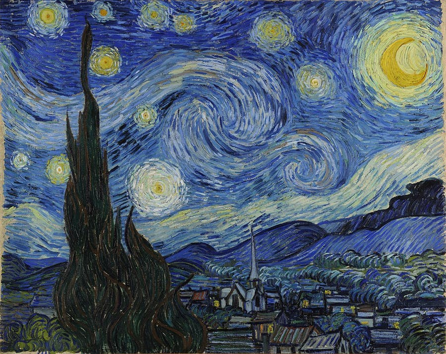 Vincent van Gogh (1853-1890), Starry Night, 1889 | Photo via Wikimedia