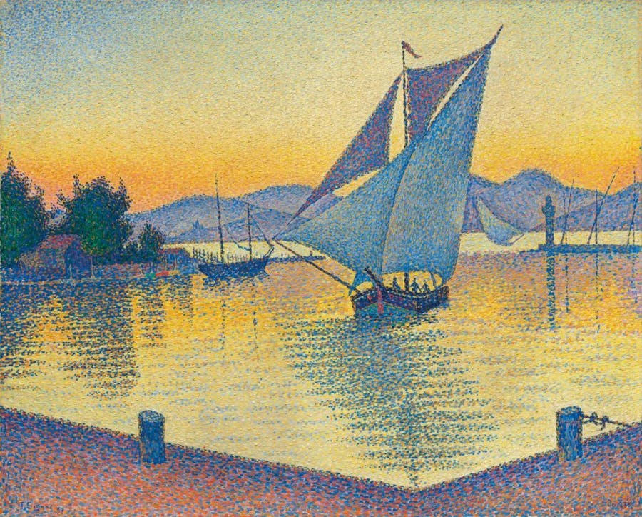 Le Port au soleil couchant, Opus 236 (Saint-Tropez), Paul Signac. 1892, oil on canvas. Image: Christie's