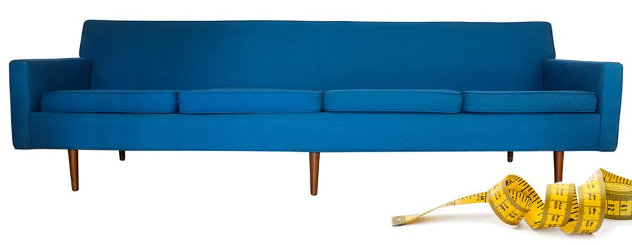 Featured above: Milo Baughman Four-Seat Sofa