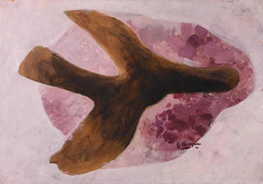 Georges Braque, 'Bird', circa 1957-1958, oil and pencil on paper mounted on canvas, 46.3 x 64 cm, © Courtesy Galerie Berès