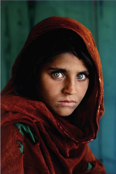 Steve Mccurry 'Sharbat Gula, Afghan Girl, Pakistan', 1984 Sotheby's