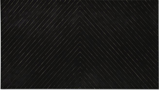 Point of Pines, Frank Stella. 1959, enamel on canvas. Image: Christie's