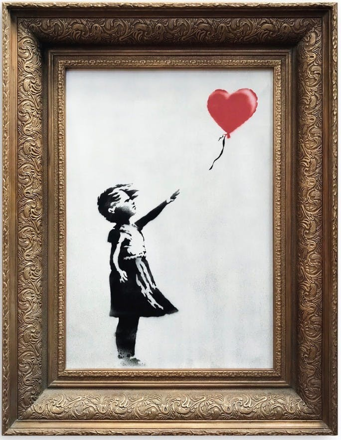 Banksy, « Girl with Red Balloon », 2006, image ©Sotheby's