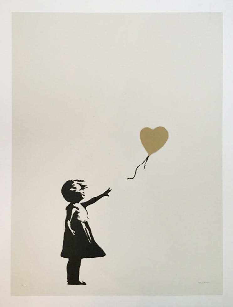 Bansky, Girl With Balloon (Gold)   Foto: © 727 Gallery