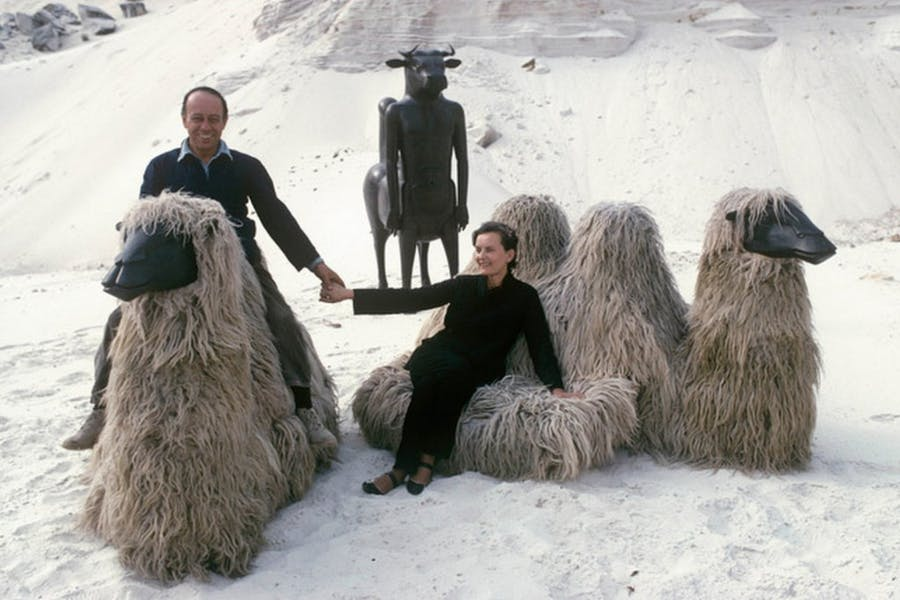 Claude and François-Xavier Lalanne Photo by Pierre Boulat/Cosmos