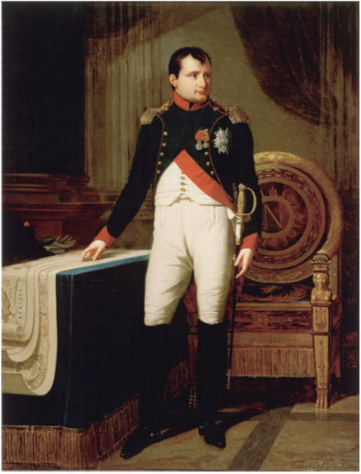 Robert Lefevre (1756-1830), Napoleon I in Colonel's uniform of the guard hunters, image via napoleon.org