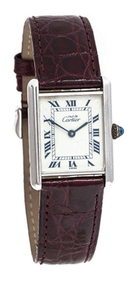 Lot 189 Montre de femme Must par Cartier Estimation basse: 400 €