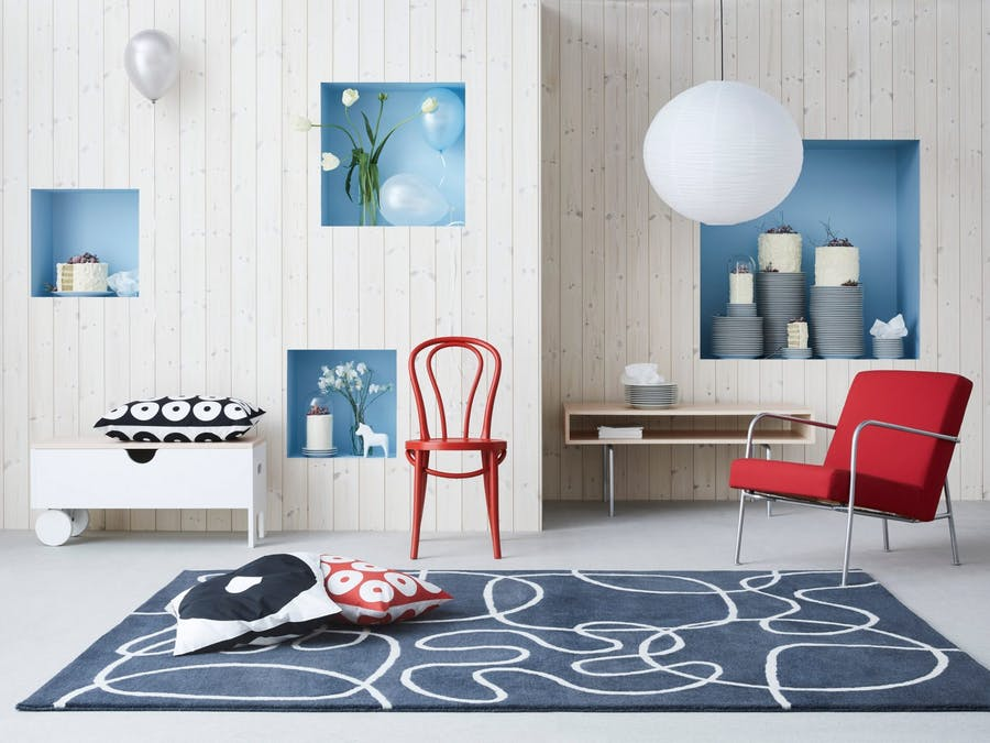 Collection minimale inspiration année 1990-2000, image ©IKEA