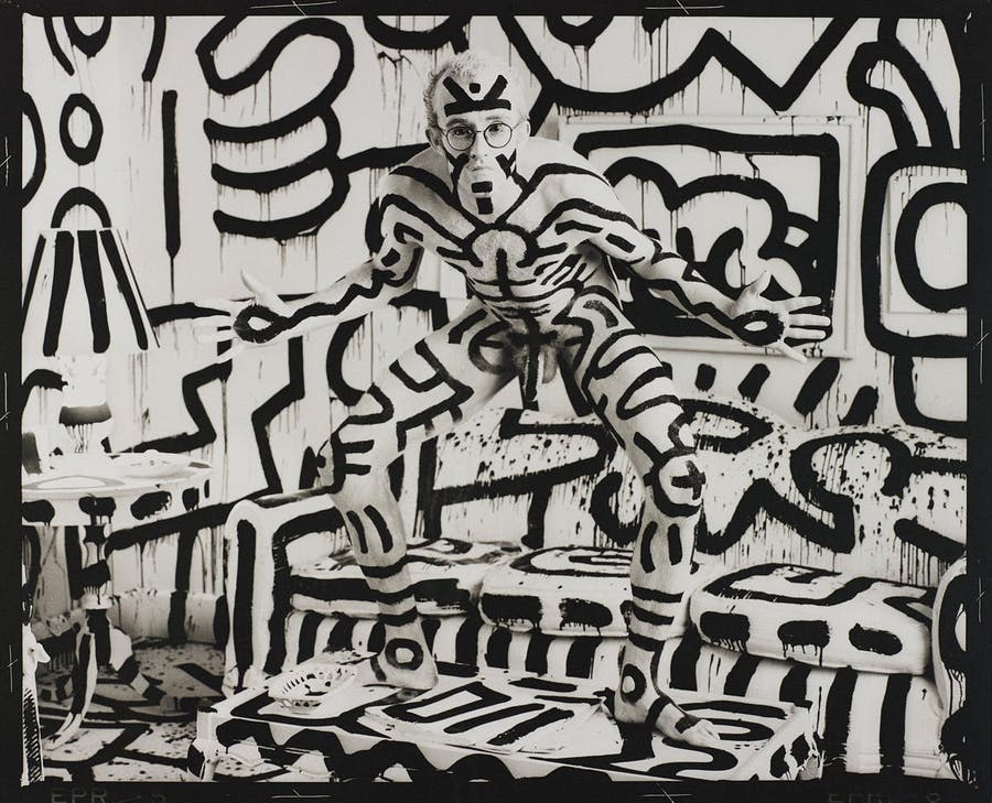 Annie Leibovitz, Keith Haring, New York, 1986, image © Phillips