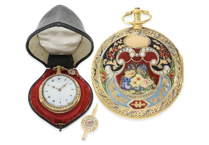 George Prior, Gold/Emaille-Clockwatch No. 1919, London ca. 1785 | Foto: Cortrie