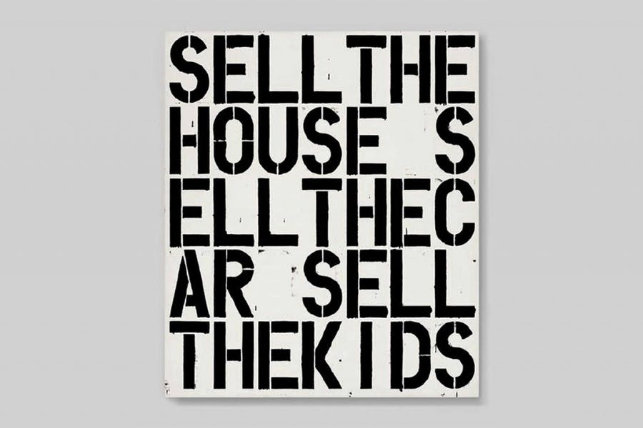 Christopher Wool, Apocalypse Now. Foto: Widewalls