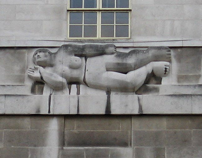 """Henry Moore's """"West Wind"""". Photo via Wikimedia Commons."""