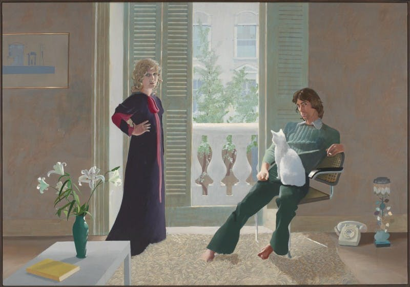 David Hockney, Mr and Mrs Clark and Percy, 1970-71, image via Tate Modern
