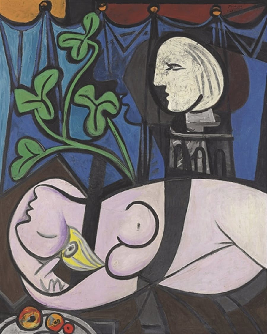 Pablo Picasso (1881-1973), Nude, Green Leaves and Bust, 1932, huile sur toile