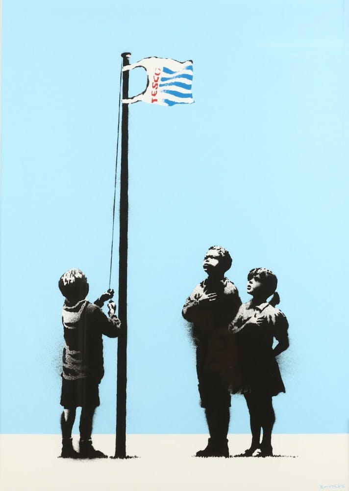 Banksy, Very Little Helps, 2008, image ©Chiswick Auctions