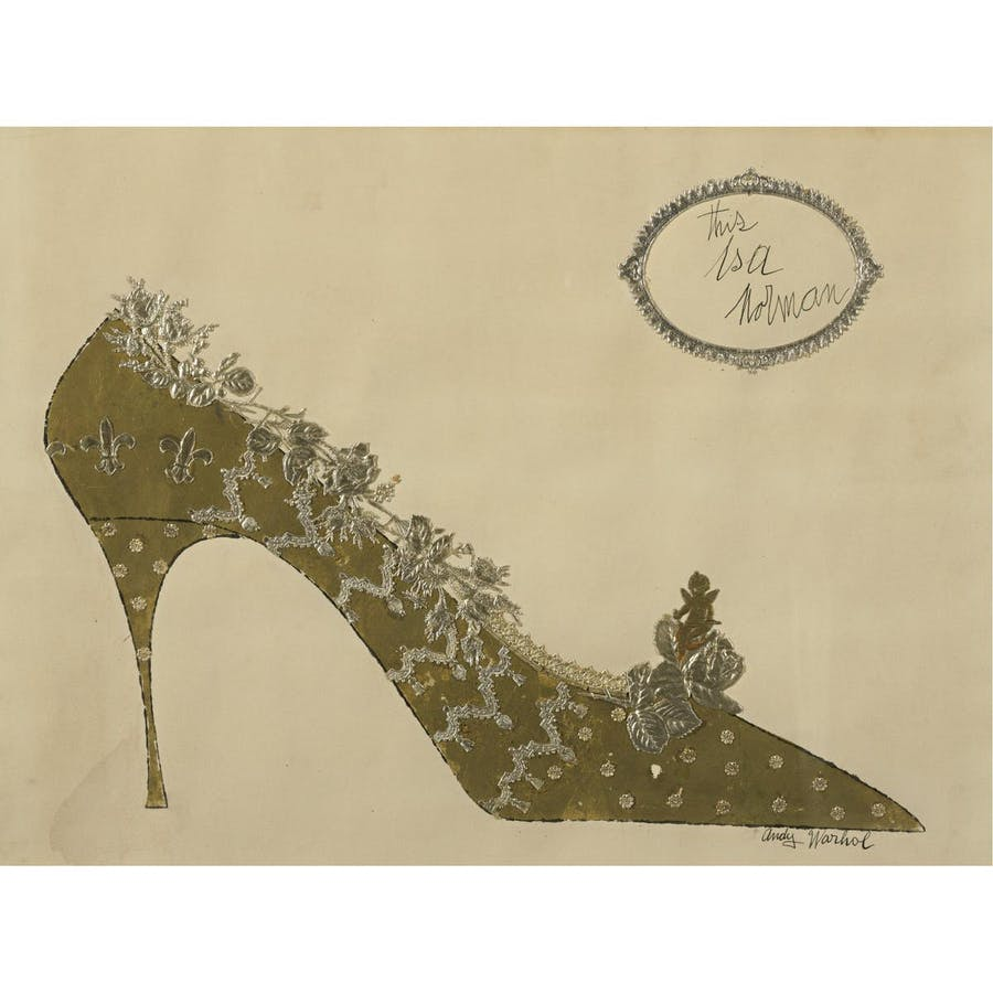 Andy Warhol, Gold Shoe, ca. 1958 | Abb.: Sotheby's