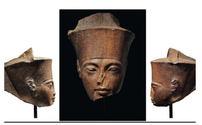 The 3,000-year-old statue of Tutankhamun's head is going under the hammer at Christie's London. Photograph: The Telegraph