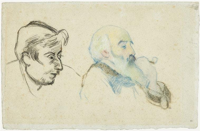 A double portrait of Paul Gauguin (left) and Camille Pissarro (right), Paul Gauguin. 1880. Image ©RMN-Grand Palais (musée d'Orsay) / Tony Querrec